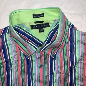 Tommy Hilfiger 80's 2-Ply Fabric Button Down